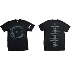 The Cure Unisex Tee: Eyemoon Logo (Ex-Tour/Back Print)