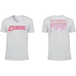 The Cure Unisex Tee: Neon Logo (Ex-Tour/V-Neck & Back Print)