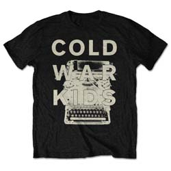 Cold War Kids Unisex Tee: Typewriter (Retail Pack)