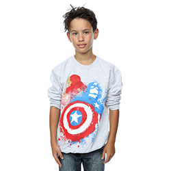 Marvel Comics Kids Boy's Fit Sweatshirt: Captain America Civil War (7 - 8 Years)