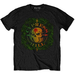Cypress Hill Unisex Tee: South Gate Logo & Leaves