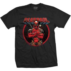 Marvel Comics Unisex Tee: Deadpool Crossed Arms