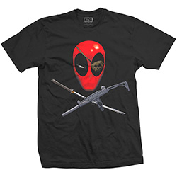 Marvel Comics Men's Tee: Deadpool Crossbones