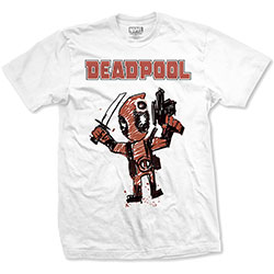 Marvel Comics Unisex Tee: Tee: Deadpool Cartoon Bullet