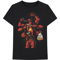 Marvel Comics Unisex Tee: Deadpool Arms