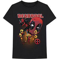 Marvel Comics Unisex Tee: Deadpool Collage 2