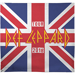 Def Leppard Blanket: 2018 Tour Union Jack (Ex. Tour)