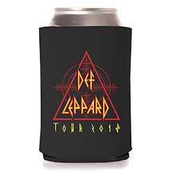Def Leppard Koozie: 2018 Tour Triangle & Target (Ex. Tour)