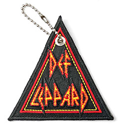 Def Leppard Keychain: Tri-Logo (Double Sided Patch)