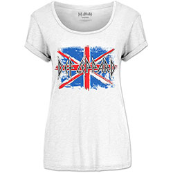 Def Leppard Ladies Fashion Tee: Union Jack (Scoop Neck)