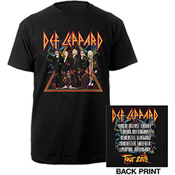 Def Leppard Unisex Tee: 2018 Tour Photo (Ex. Tour/Back Print)