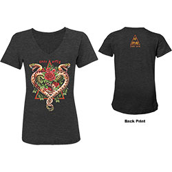 Def Leppard Ladies Tee: 2018 Tour Love Bites (Ex. Tour/Back Print)