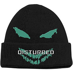 Disturbed Unisex Beanie Hat: Green Face