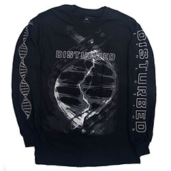 Disturbed Unisex Long Sleeved Tee: Hybrid (Ex-Tour)