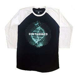Disturbed Unisex Raglan Tee: Binary (Ex-Tour)