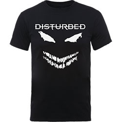 Disturbed Unisex Tee: Scary Face Candle