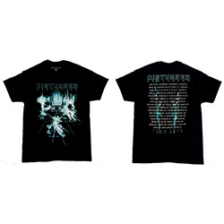 Disturbed Unisex Tee: Apocalypse Dateback (Ex-Tour/Back Print)