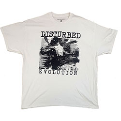 Disturbed Unisex Tee: Sketch (Ex-Tour)