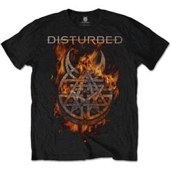Disturbed Unisex Tee: Burning Belief