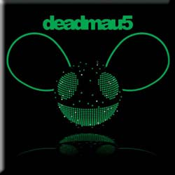 Deadmau5 Fridge Magnet: Green Head