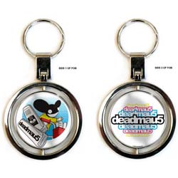 Deadmau5 Keychain: Papermou5 (Spinner)