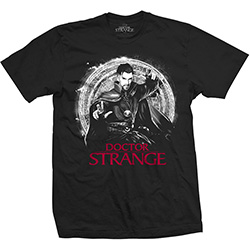 Marvel Comics Men's Tee: Doctor Strange Mono Pop