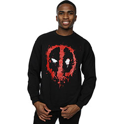 Marvel Comics Men's Sweatshirt: Deadpool Splat Face (XX-Large)