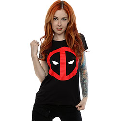 Marvel Comics Ladies Tee: Deadpool Clean Logo (Large)