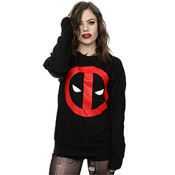 Marvel Comics Ladies Sweatshirt: Deadpool Clean Logo (Small)