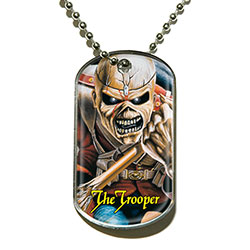 Iron Maiden Dog Tag Pendant: The Trooper