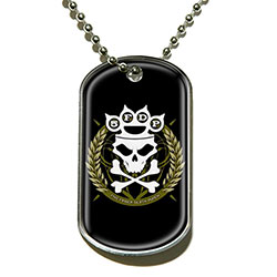 Five Finger Death Punch Dog Tag Pendant: Knuckle Crown
