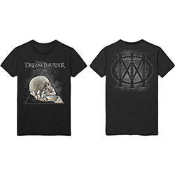 Dream Theatre Unisex Tee: Skull Triangle (Back Print)