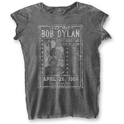 Bob Dylan Ladies Tee: Curry Hicks Cage (Burn Out)