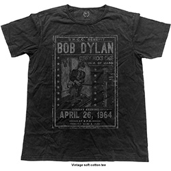 Bob Dylan Men's Fashion Tee: Curry Hicks Cage Vintage (Vintage Finish)