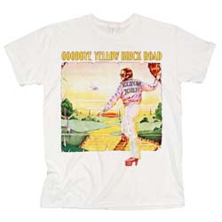 Elton John Men's Tee: Goodbye Yellow Brick Road Album