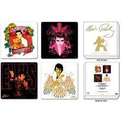 Elvis Presley Coaster Set: Mixed Designs