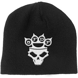 Five Finger Death Punch Unisex Beanie Hat: Knuckle-Duster Logo & Skull