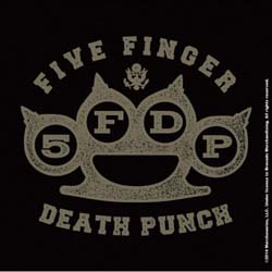 Five Finger Death Punch Single Cork Coaster: Brass Knuckle