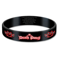 Five Finger Death Punch Gummy Wristband: Logo