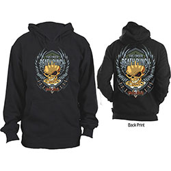 Five Finger Death Punch Unisex Pullover Hoodie: Trouble (Back Print)