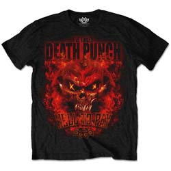 Five Finger Death Punch Men's Tee: Hell to Pay