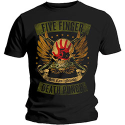 Five Finger Death Punch Men's Tee: Locked & Loaded