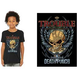 Five Finger Death Punch Kids Tee: Trouble