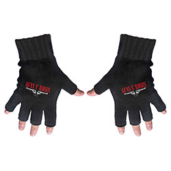 Guns N' Roses Unisex Fingerless Gloves: Logo & Pistols