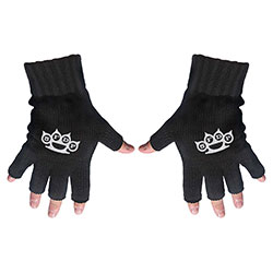 Five Finger Death Punch Unisex Fingerless Gloves: Logo