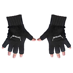 Metallica Unisex Fingerless Gloves: Logo