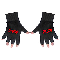 Kreator Unisex Fingerless Gloves: Logo