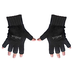 Testament Unisex Fingerless Gloves: Logo