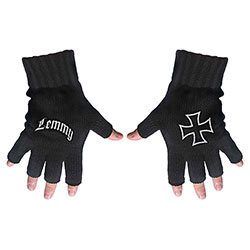 Lemmy Unisex Fingerless Gloves: Logo & Iron Cross