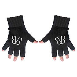 Black Veil Brides Unisex Fingerless Gloves: Logo